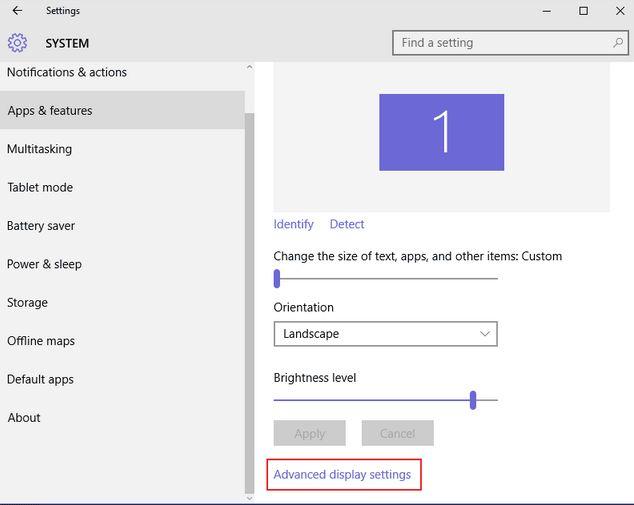 حل مشكلة دقة الشاشة في نظام التشغيل Windows 10