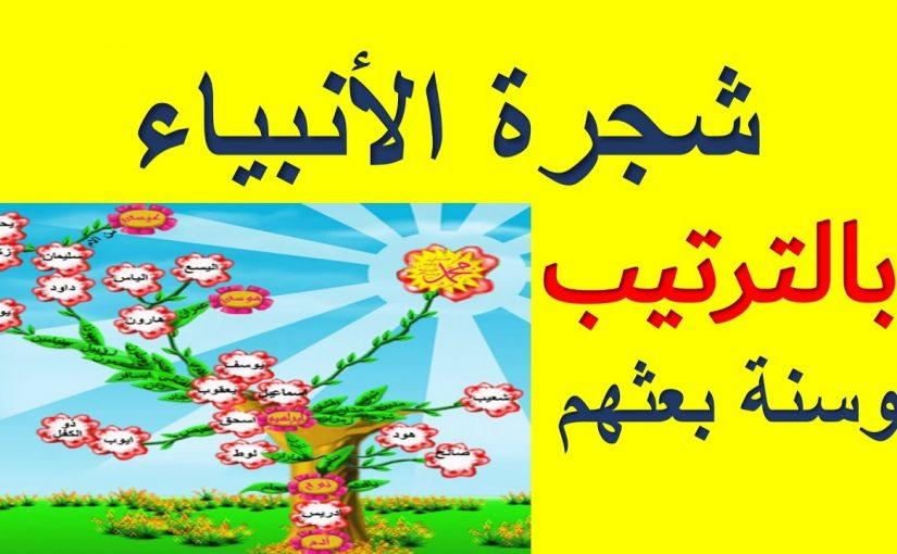 شجرة الانبياء والرسل