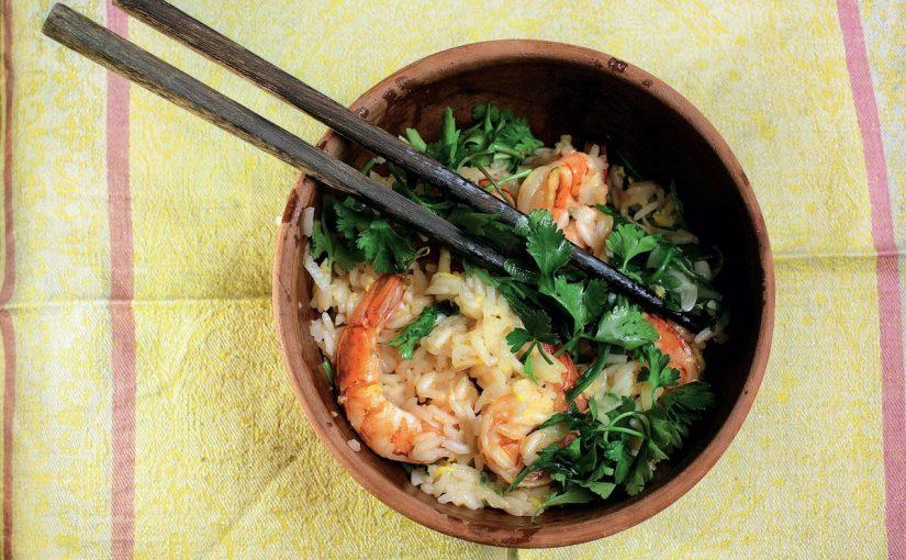 ارز صيني بالروبيان