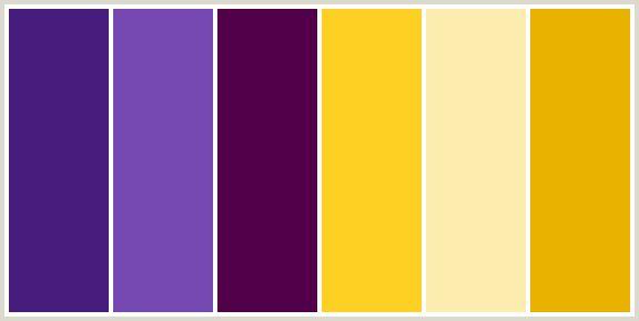ألوان تتناسب مع اللون البنفسجي في الديكورات
