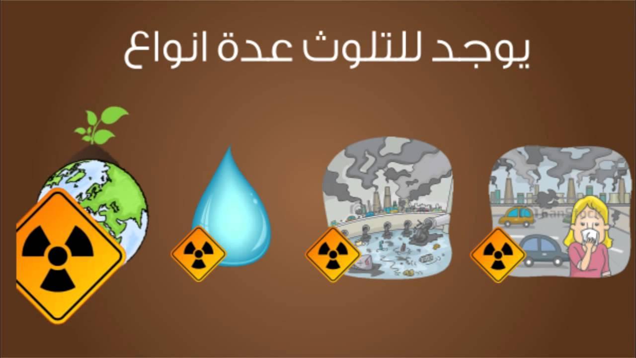 بحث عن التلوث البيئي مع المراجع