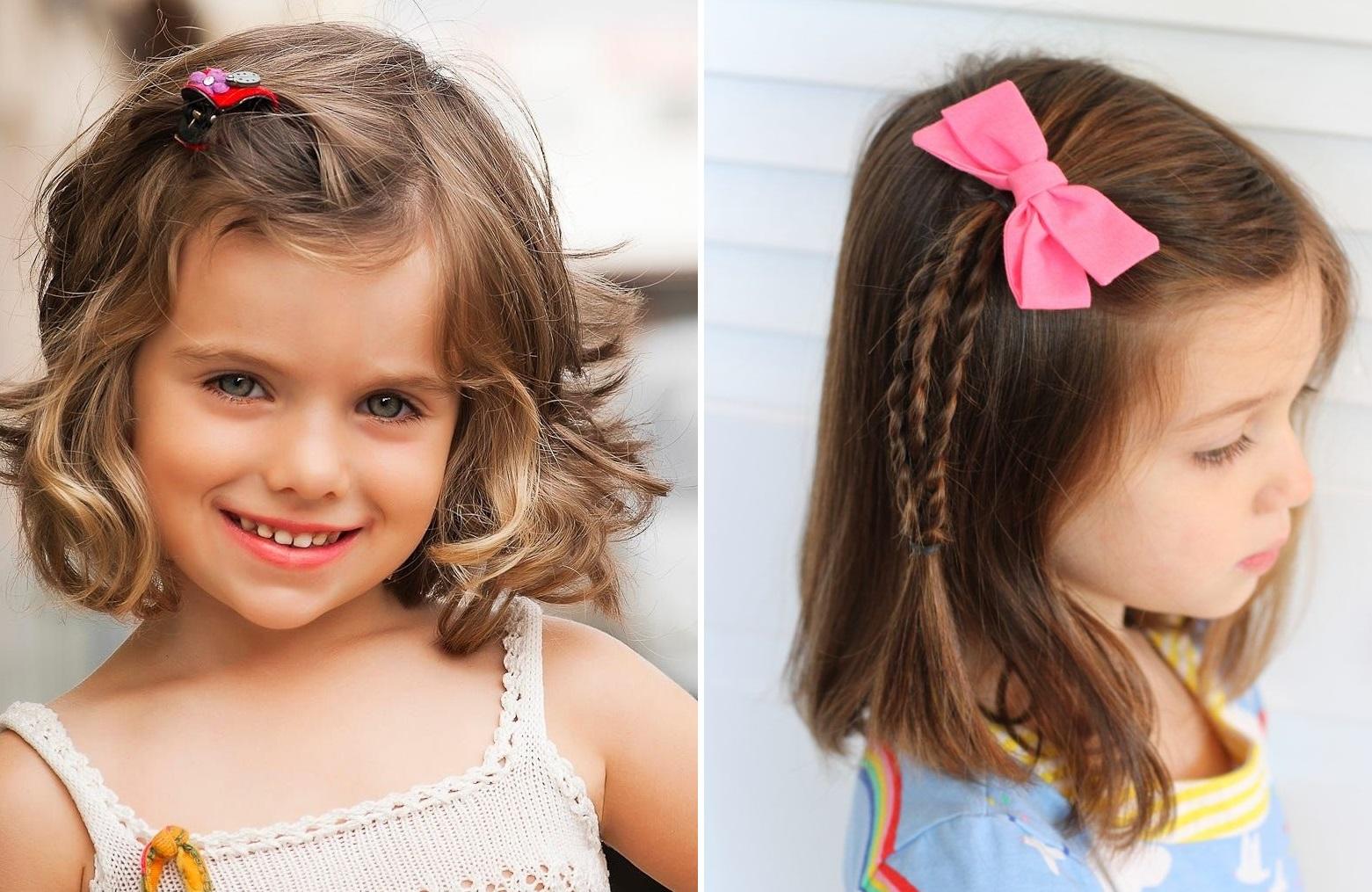تسريحات شعر سهلة للاطفال للشعر القصير