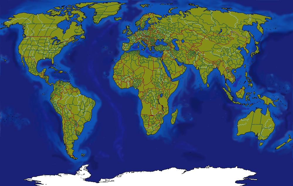 خريطة العالم صماء