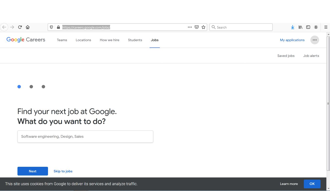 موقع Google For jobs