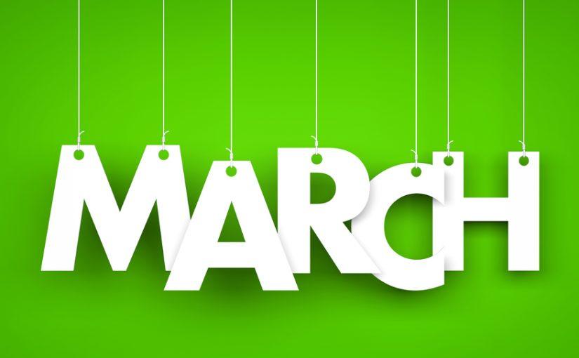 مارس شهر كم