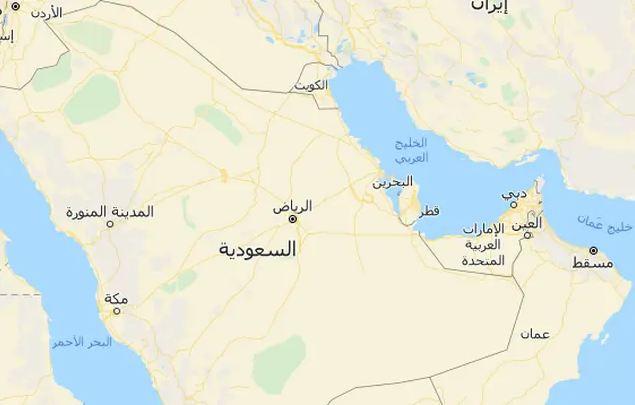 خريطة الإمارات والسعودية