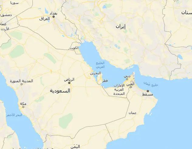 حدود خريطة الإمارات