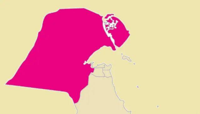 خريطة الكويت صماء