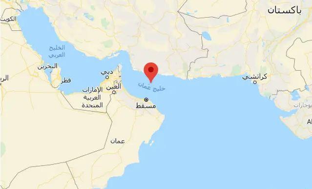 بحر عمان على الخريطة