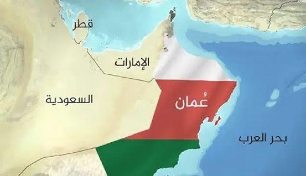 خريطة عمان بألوان العلم