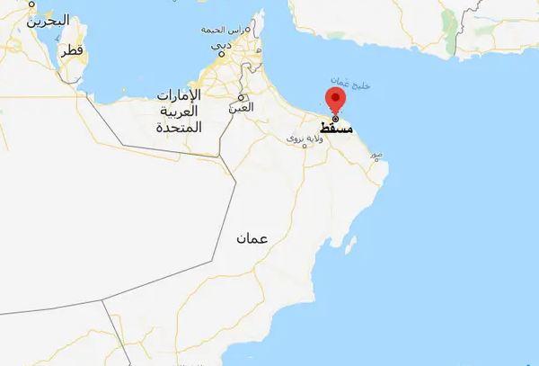 خريطة عمان مسقط
