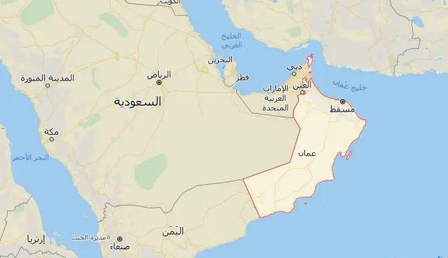خريطة عمان واليمن