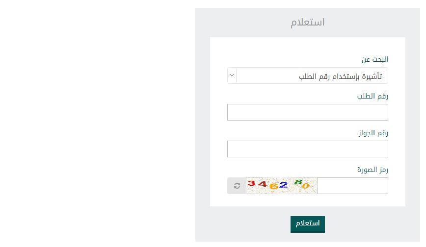 الاستعلام عن التأشيرة من خلال منصة الخدمات