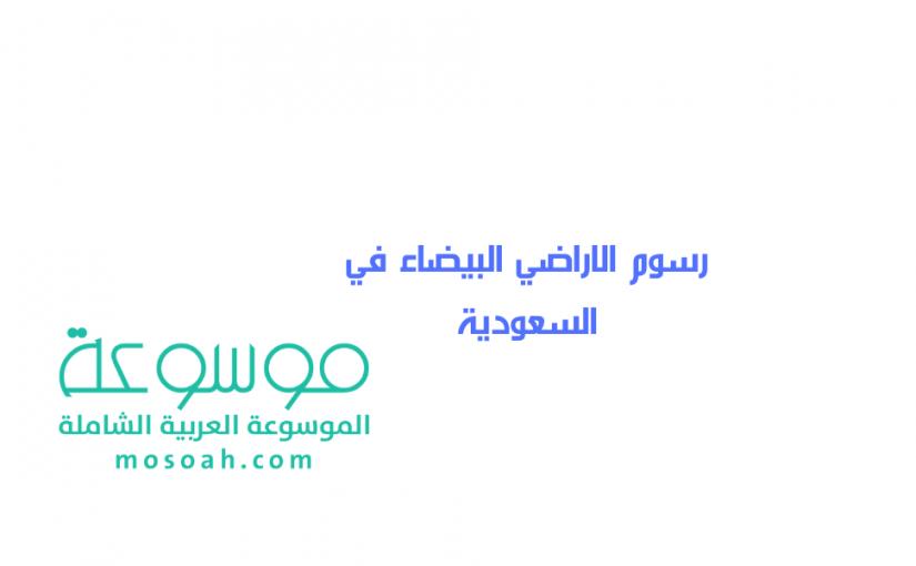 رسوم الاراضي البيضاء في السعودية