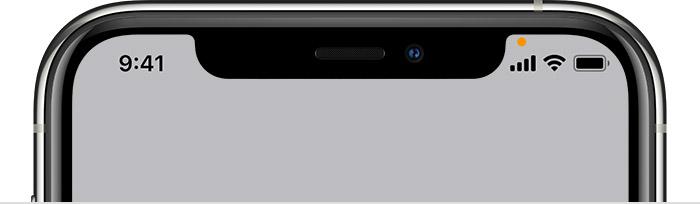 إلى ماذا يشير اللون الأخضر والبرتقالي والأزرق iPhone