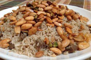 لحم مفروم مع الرز