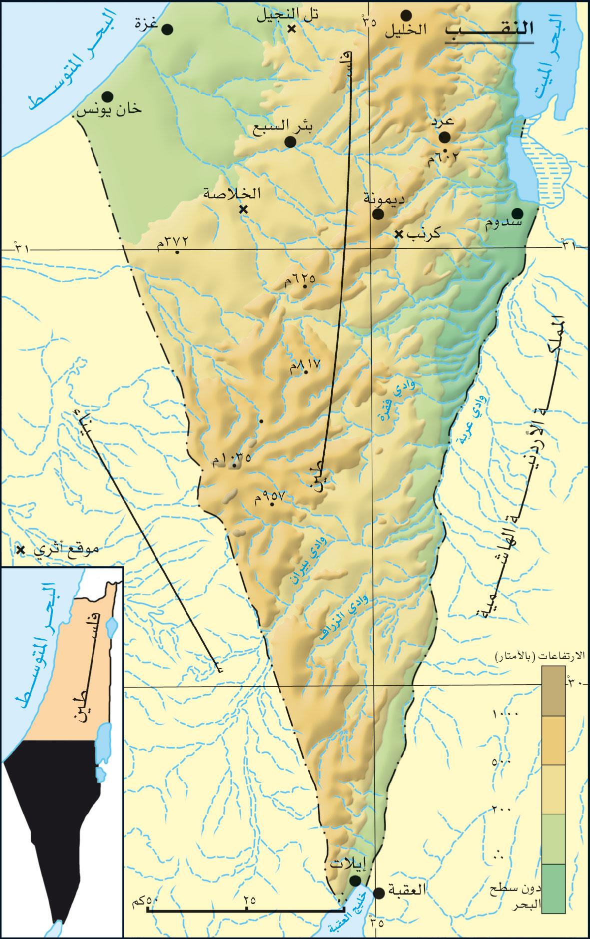 خريطة صحراء النقب