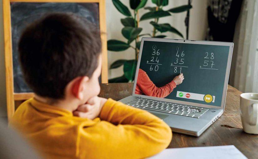 تقرير عن التعليم عن بعد قصير