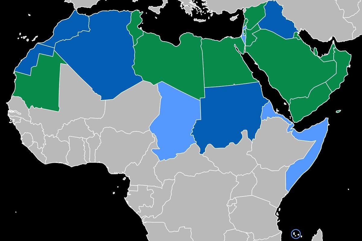خريطة الوطن العربي جغرافيا