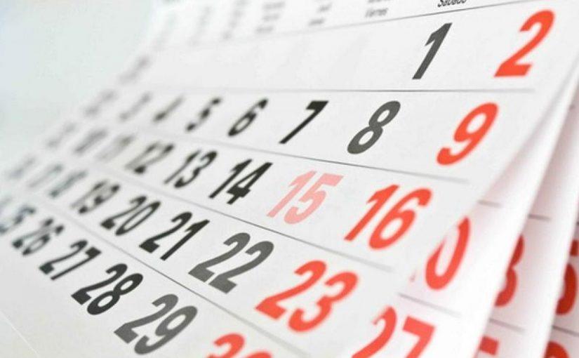 الأشهر الميلادية وعدد أيامها