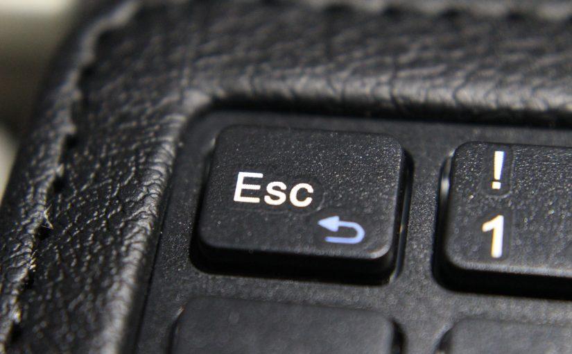 مفتاح الهروب Esc يستخدم