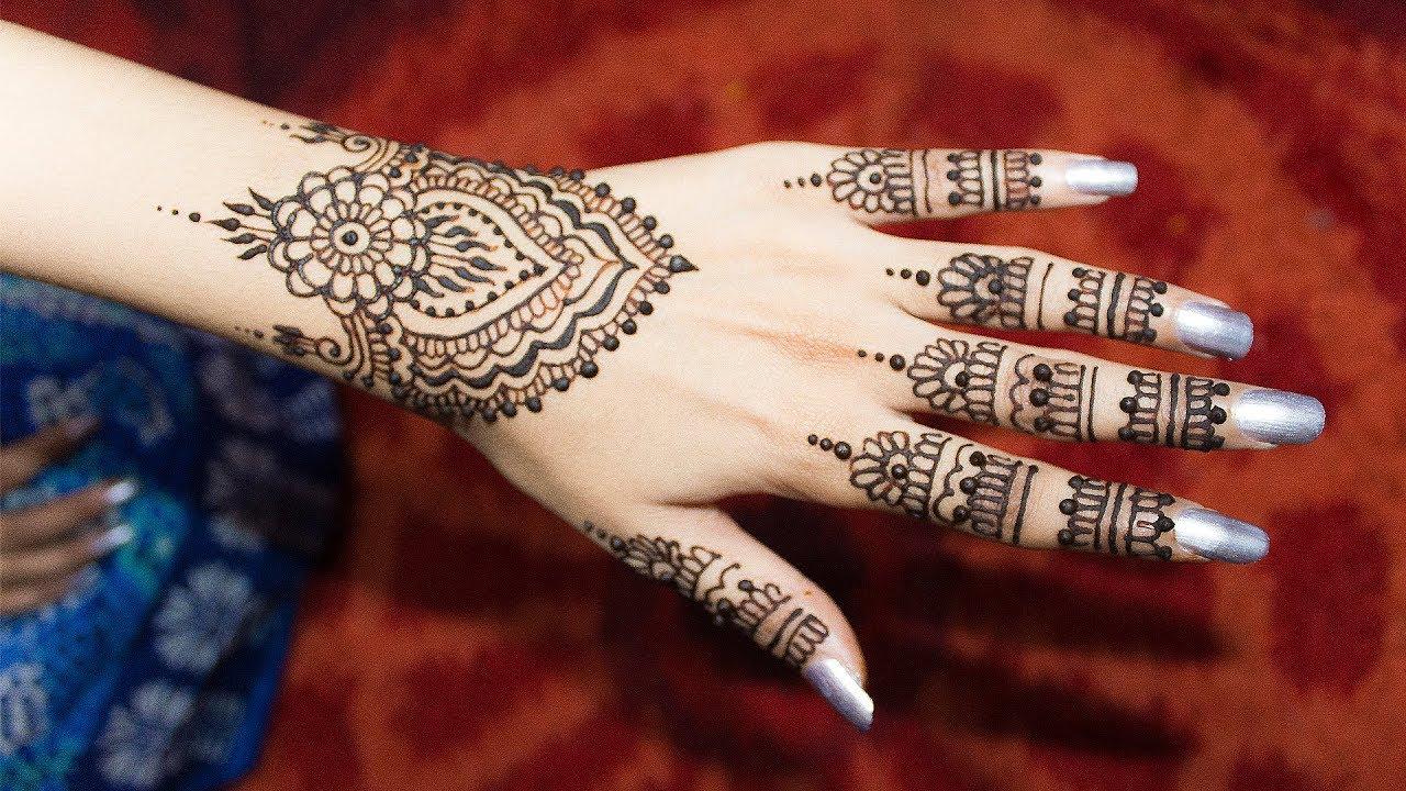 أجمل نقش حنة على اليد