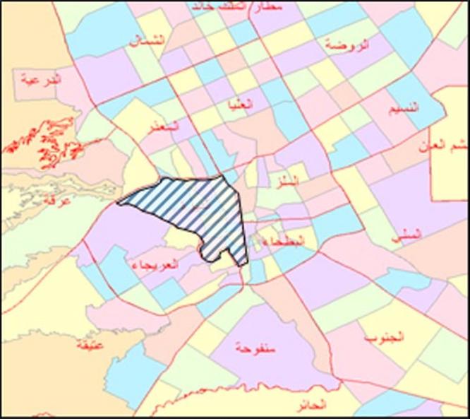 خريطة أحياء الرياض