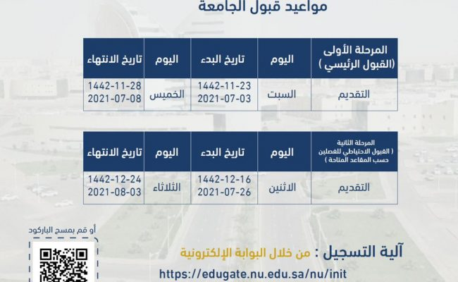 طريقة التسجيل في جامعة نجران 1443