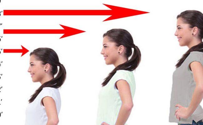 متى يتوقف الطول عند الإناث