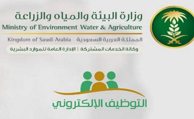 وزارة البيئة والمياه والزراعة توظيف