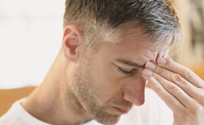 علاج وجع الرأس من الأمام مع العين
