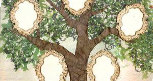نموذج شجرة عائلة فارغة جاهز