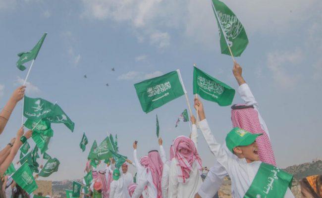 ملابس اليوم الوطني السعودي للاطفال