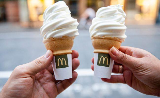 منيو ايس كريم ماكدونالدز في السعودية